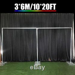 6Mx3M Large Telescopic Wedding Party Photo Backdrop Stand Pipe and Drape System