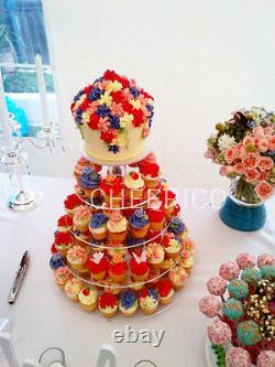 7 Tier Maypole Mirrored Effects Cupcake Stand Cup Cake Tower Tree