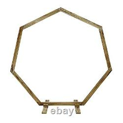 7 ft NATURAL Geometric Wood Wedding Arch Backdrop Stand Party Events Supplies