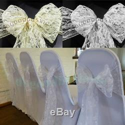 7''x108'' 5 Colors Lace Chair Sashes Cover Wedding Banquet Party Reception Decor