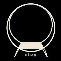 80cm (WHITE) TWIN DOUBLE HOOP CAKE STAND WHITE WEDDING BALLOON EVENTS