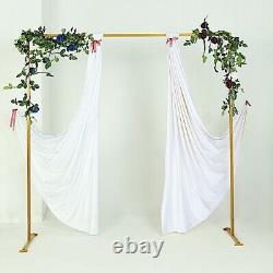 8 feet Gold Metal Square Backdrop Stand Wedding Arch Party Events Decorations
