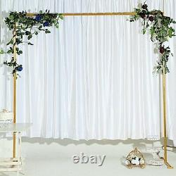 8 ft Gold Square Metal Arch Backdrop Stand Wedding Reception Party Decorations