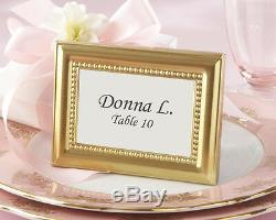 96 Beautifully Beaded Gold Wedding Place Card Holder Photo Frame Favors