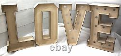 A395 LOVE 3D LETTERS XL900 TALL with/out holes doughnut donut wedding party