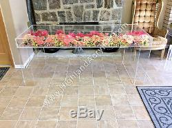 Acrylic Lucite Sweetheart / Birthday / Shower Table 48L x 18W x 30H