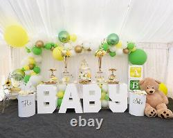 Baby shower Display table decorative Clear & white Acrylic Perspex