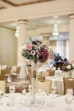 Beautiful wedding reception decor lot in plums, ivory, lavender, and silver