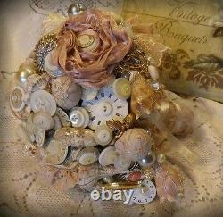 Bespoke Handmade Vintage brooch bouquet's as seen on dont tell the bride