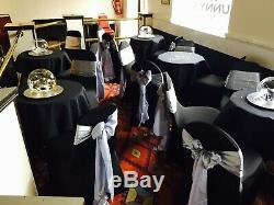 Black Wedding/ Party Lycra/ Spandex Chair Covers FOR SALE