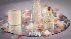 Bulk 24 pieces Round or Square Centerpiece Mirrors for Wedding Table 4in-12in