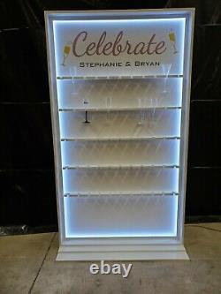 CHAMPAGNE GLASS CELEBRATION WALL Wedding & Event Presentation Wall for Flutes