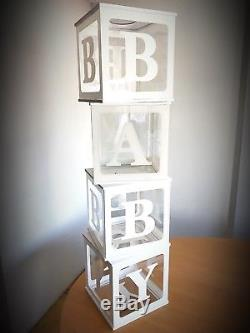 Candy Cart Baby Blocks Clear, Props Or Sweet And Cake Display, 4 Blocks 30cm Sq