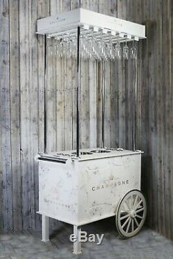 Champagne Cart, Drinks Cart 6ft 4 inches tall, Holds 2 Champagne buckets