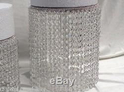 Crystal Chandelier style cake stands Diamante effect set of 3 tiers