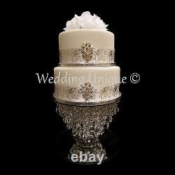 Crystal cake stand wedding cake stand glass chandelier cake stand diamante