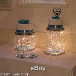 Crystal wedding Cake Stand Ascending style Real Crystal 6 sizes to choose