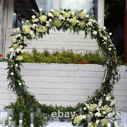 DIY Round Arch Backdrop Wedding Props Decor Metal Party Circle Arch Stand Frame