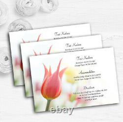 Dainty Pink And Yellow Floral Personalised Wedding Guest Information Cards