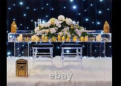 Decorative Wedding Reception Display Table Clear Acrylic Top and Legs