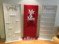 Donut Wall, Flower Wall Prosecco Wall 3 Walls Freestanding, Candy Cart
