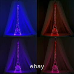EIFFEL TOWER 57 inches Silver Party Home Decorations 100 LED Lights WHOLESALE