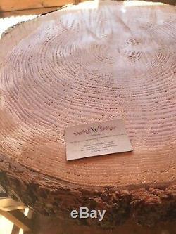 Extra large rustic log slice cake stand 26-28 Seen on ITV THIS MORNING