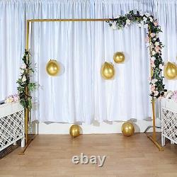 GOLD 8 ft Square Metal Arch Backdrop Stand Party Wedding Reception Decorations