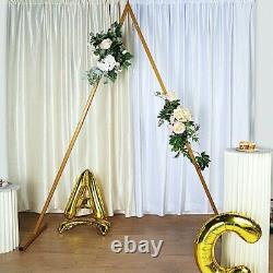 GOLD 8 ft tall Triangle Metal Wedding Arch Backdrop Stand Stage Background Party