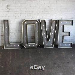 Giant Battery Operated LED Love Letters. Wedding/Event Decor. To Buy Not Hire
