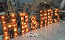 Giant Reclaimed Rustic Wood 4ft MR&MRS Letters Hand Made for Wedding Venues