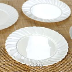 Hard Plastic 10 ROUND DINNER PLATES Party Wedding Catering Disposable TABLEWARE