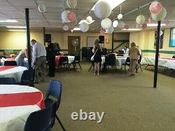 Huge Lot Wedding Party Banquet Table Runners, Lace Entry Swag, Centerpieces