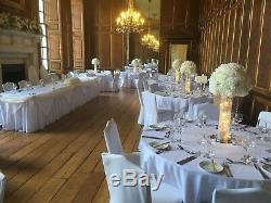 Ivory Rose and Hydrangea Tall Wedding Centrepiece Table Flowers Arrangement