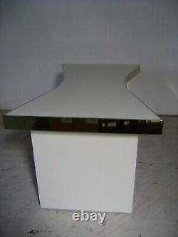 Kate Spade Large White & Gold Retail Display Bow Tie Shaped Laminated Table