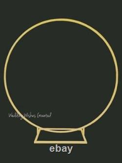 LARGE 1.9m ROUND MOONGATE BACKDROP HOOP GOLD RING WEDDING BALLOON EVENTS
