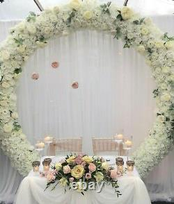 LARGE 1.9m ROUND MOONGATE BACKDROP HOOP WHITE RING WEDDING BALLOON EVENTS