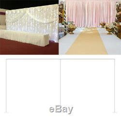 Large 20ft Stainless Steel Pipe and Drape Kit Wedding Photography Backdrop Stand