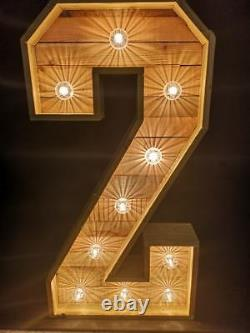 Large 4ft Rustic Light Up Numbers for sale or hire fully pat tested and backed