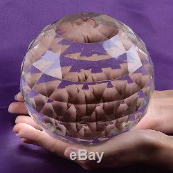 Large Cut Crystal Sphere 150mm Faceted Gazing Ball Prisms Suncatcher Home Decor