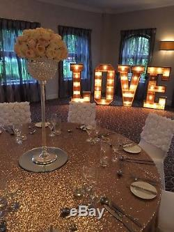Large Light Up letters for sale Wood 4ft MR & MRS Cabochon Bulbs #weddings