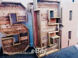 Large Light up Rustic Individual letters for sale Wood 4ft #weddings events