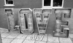 Large Rustic/pallet 4ft Light Up letters for sale NEW