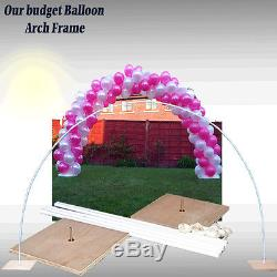 Large Wedding & All Occasions Balloon Arch Frame X 2 Air Filled Balloons