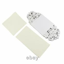 Laser Cut Fold Over Wedding Invitations Cards with Envelopes Insert