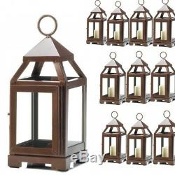 Lot 15 Copper Bronze 8.75 Small Lantern Candle Holder Wedding Centerpieces