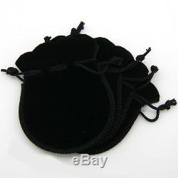 Lot of 25 50 100 Black 7 x 9CM Jewelry Pouches Velvet Gift Bags Wedding Favors
