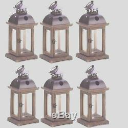 Lot of 6 Rustic Candle Lantern Candleholder Wedding Centerpieces