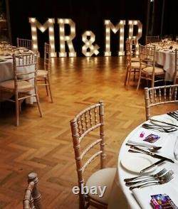 MR & MR 4ft Light Letters HIRE Wedding LOVE Delivery to East Sussex & Kent
