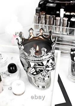 Monte Cristo Skull Crowned Scented Candle Collection (Black)